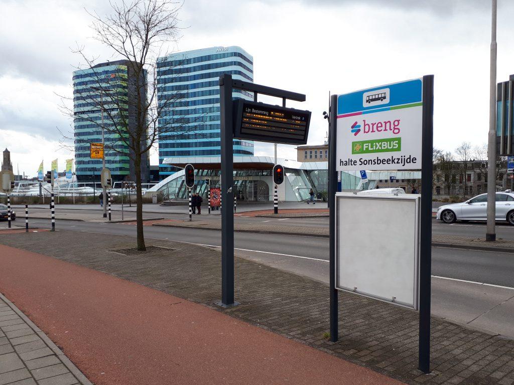 bushalte langeafstandsbusvervoer